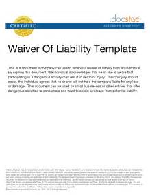 waiver of responsibility template best photos of waiver of property template liability