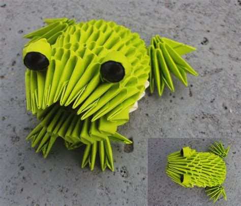 3d Origami Frog - 3d origami paper 30 amazing modular character crafts