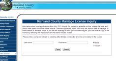 Richland County Sc Marriage License Records South Carolina Genealogy Resources On South Carolina Marriage License And