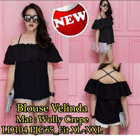 Dress Martha Hitam Sw Dress Wanita Wolly Crepe Hitam Termurah jual spesial blouse velinda sw blouse wanita wolly crepe