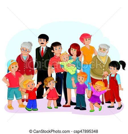imagenes de la familia reunida pap 225 vector familia grande aduelo bisabuela