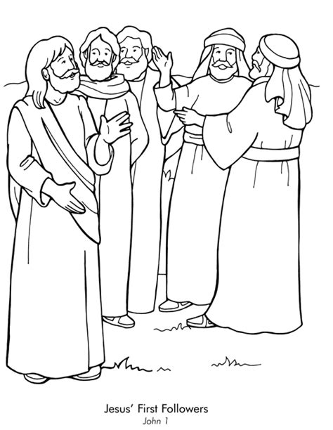 coloring pages of jesus disciples first disciples coloring page