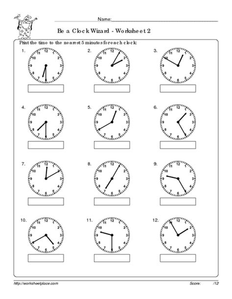 Analog Clock Practice Worksheets by Free Worksheets 187 Time Worksheets Match Digital And