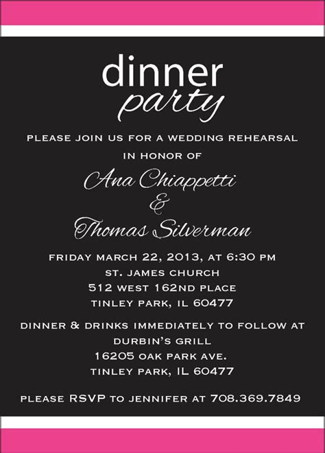 dinner party invitation wording theruntime com