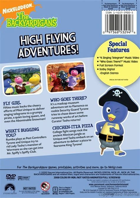 backyardigans the high flying adventures dvd 2008