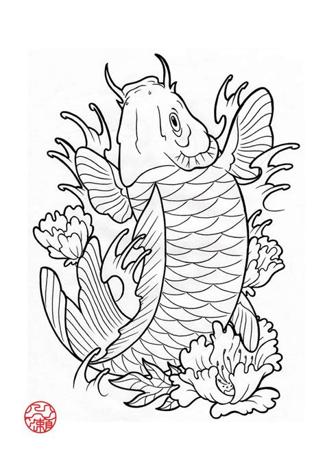japanese koi tattoo designs free 19 best japanese koi fish stencils images on