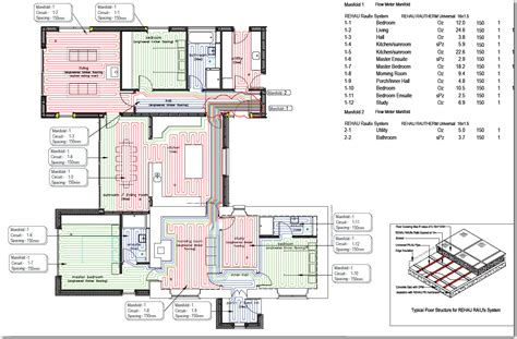 layout for underfloor heating house plans craig cottage