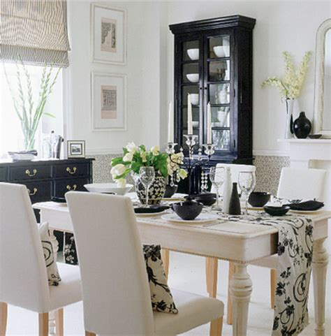 black and white dining rooms falls design cream white black natural wood stunning