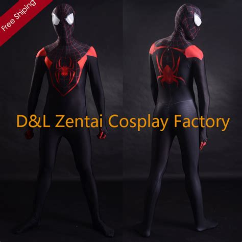 Pdf Spider Morales Suit by Aliexpress Buy Free Shipping Dhl 3d Printing