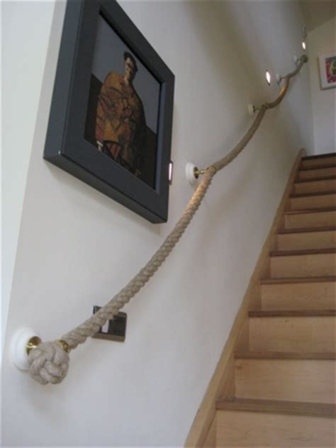 rope banister rail stair rope and banister ropes made to measure by outhwaite