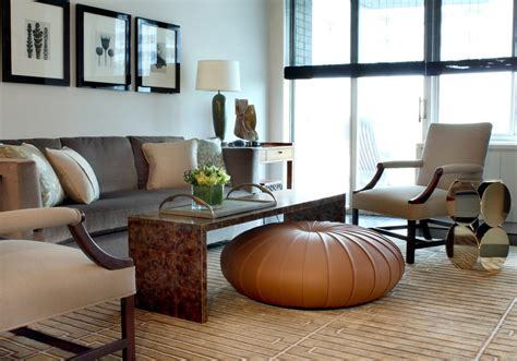 living room pouf leather pouf living room eclectic with glass table leather