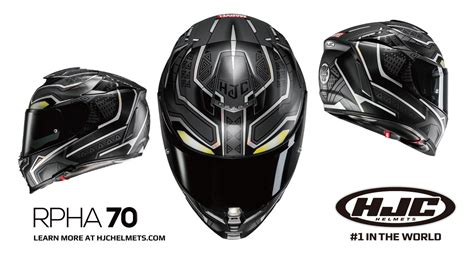 Ready St Hj Wakanda Coksu hjc rpha 70 black panther motorcycle helmet from marvel
