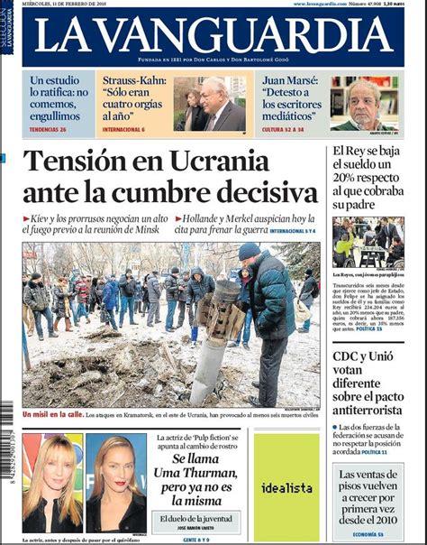 by facturaxion mircoles 11 de febrero de 2015 portada de la vanguardia del mi 233 rcoles 11 de febrero de 2015