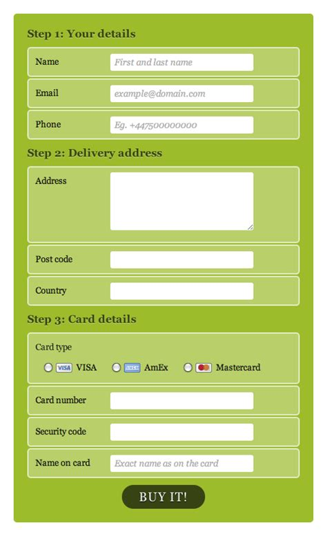 design form html5 registration page in html5