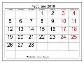 Calendario 2018 Febbraio Calendario Per Stare Febbraio 2018 Emericus Italia