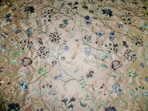 embroidered silk drapery fabric lee jofa g p j baker quot guinevere quot embroidered silk