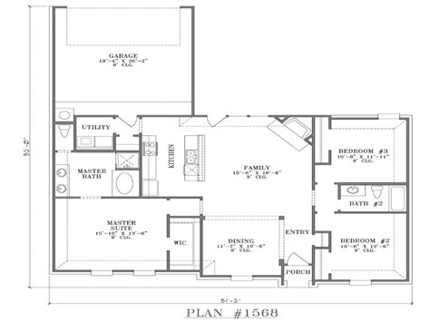 modern open floor plans single story open floor plans with
