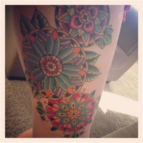 inner thigh tattoo geometric inner thigh it done by kristin