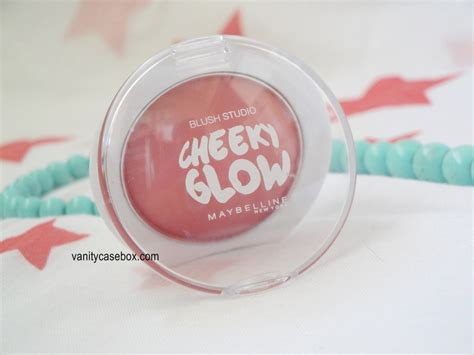 Maybelline Blush On Cheeky Glow Fresh Coral vanitycasebox maybelline cheeky glow blush fresh coral review and swatches