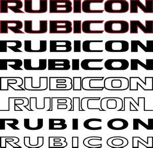 jeep wrangler logo vector rubicon logo vector cdr free