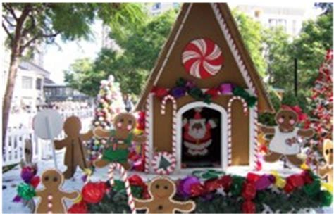 Outdoor Gingerbread House Decorations by In The Park 2013 San Jose S Free Event
