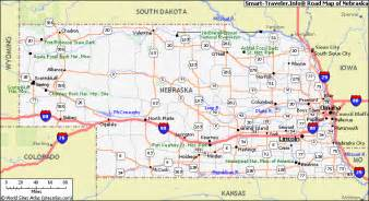 Of Ne Map Of Nebraska Travel Map Travelquaz