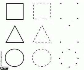 shapes figures coloring pages printable games