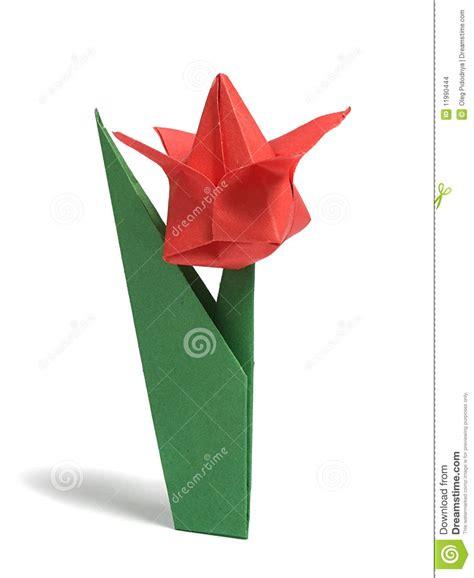 Origami Au - tulipe d origami au dessus de blanc images stock image