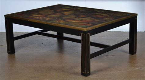 vintage world map coffee table by maison jansen at 1stdibs