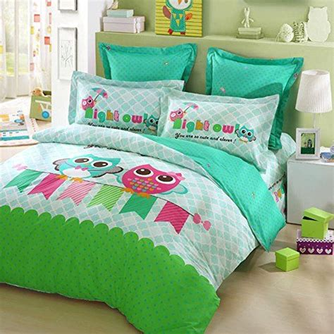 Lovo Kid S Best Friends Owl 100 Cotton 4pcs Bedding Set And Friends Bed Set
