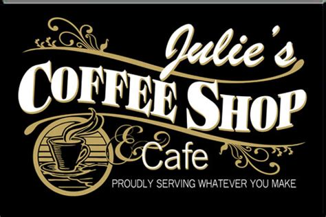 Housewarming Gifts Ideas by Personalized Black Coffee Shop Sign