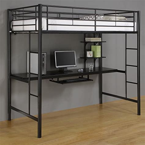 metal loft bed with desk metal loft beds with desk underneath