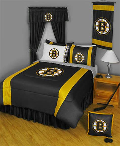 boston store bedding 4pc new nhl boston bruins comforter sheets hockey bed in