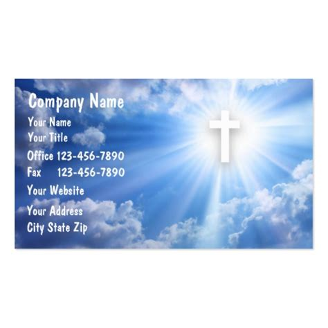 Christian Business Cards Templates by Religious Business Card Templates Bizcardstudio