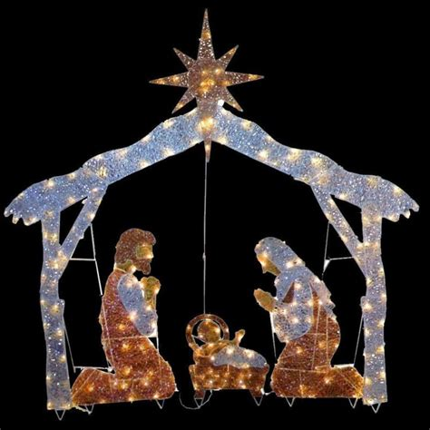 lighted outdoor nativity shop collectibles online daily
