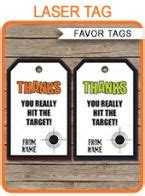 laser printable gift tags laser tag thank you note printable instant download