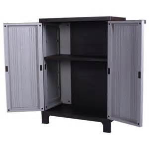 Outdoor Storage Cabinet Outdoor Strong Plastic Storage Utility Cabinet Garden Shed Upright Tool New Ebay