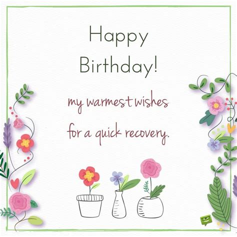 quot happy birthday and get well soon quot wishes