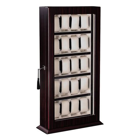 wall showcase 60 45 pd1749 deluxe 20 watch wood display wall case stand storage