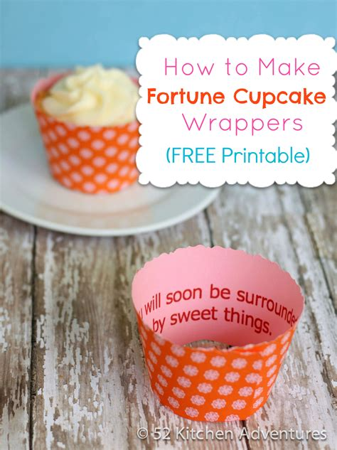 How To Make Cupcakes Out Of Paper - how to make fortune cupcakes free printable