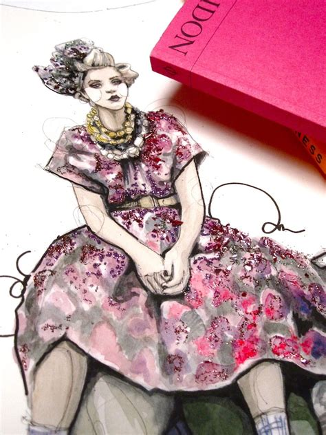 glittering fashion illustrations by rodgers