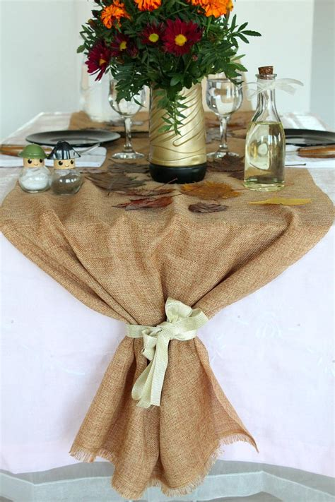 Diy Burlap Table Runner by Diy Thanksgiving Burlap Table Runner