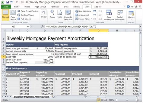 excel loan amortization template