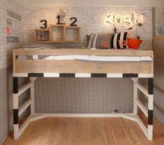 Boy Bedroom Goals Soccer Loft Bed Goal Pinteres