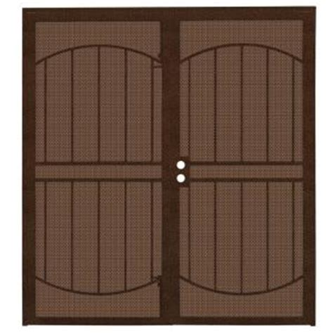 Security Patio Doors Home Depot by Unique Home Designs 72 In X 80 In Arcadamax Copper