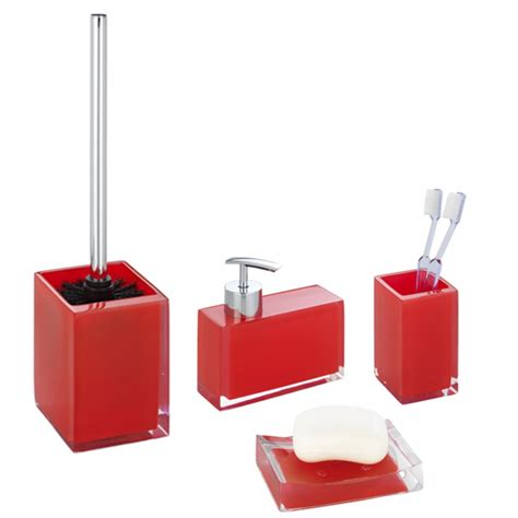 black red bathroom accessories wenko visone bathroom accessories set red at victorian