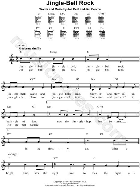 testo di jingle bell rock bobby helms quot jingle bell rock quot sheet leadsheet in