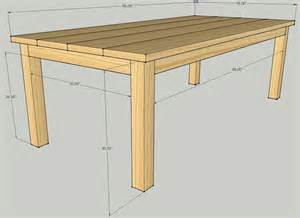 Outdoor Deck Table Building Plans Patio Table