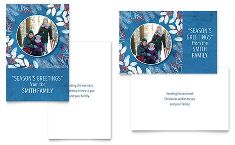 family card templates family portrait greeting card template design