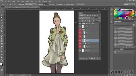 design clothes with photoshop filling and scaling with patterns